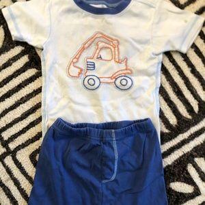 Carter's digger shortie pajamas